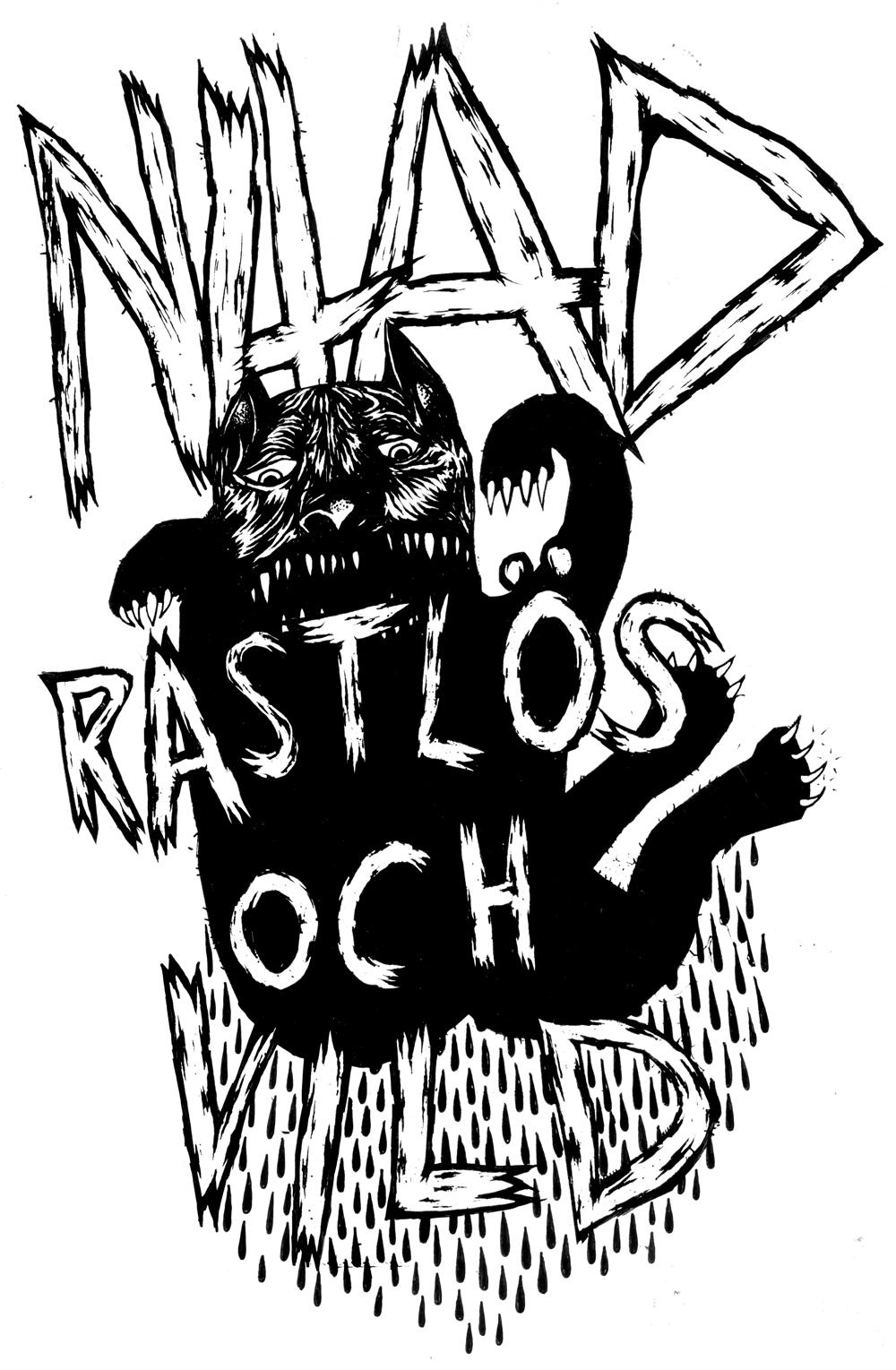 T-shirt_Nitad_Rastlös_och_Vild_kattera_klar