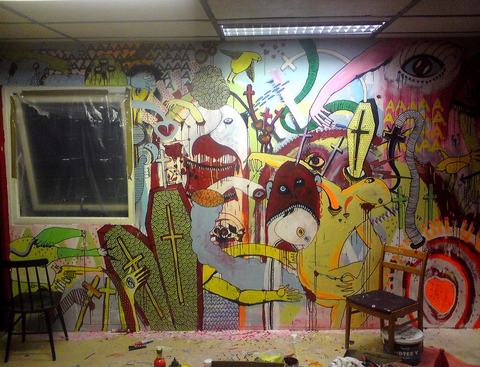 väggmålning_garaget_rummet